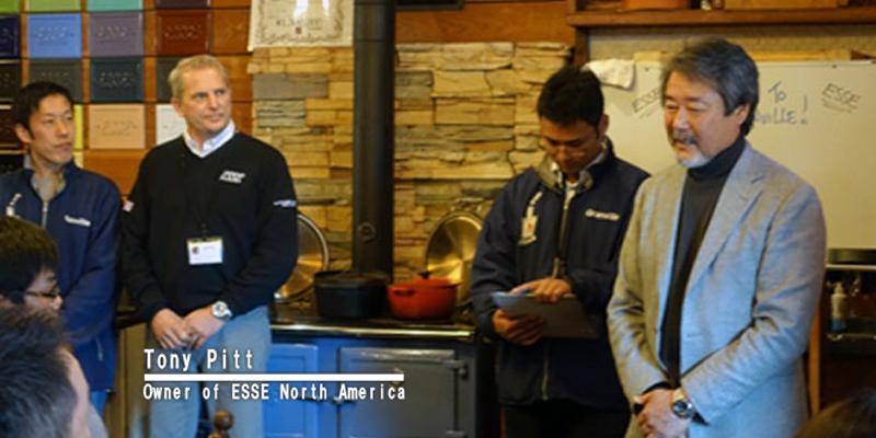 ESSE社製薪ストーブを囲んでの交流会1