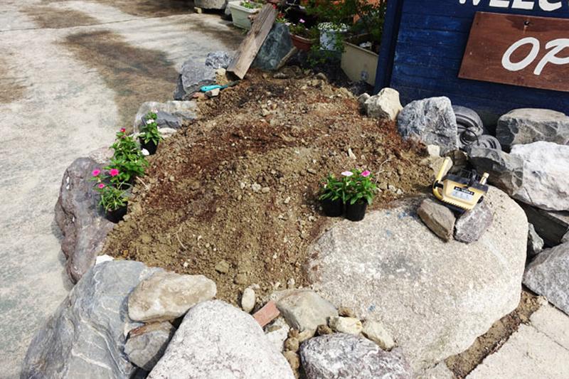 花壇を作りました3