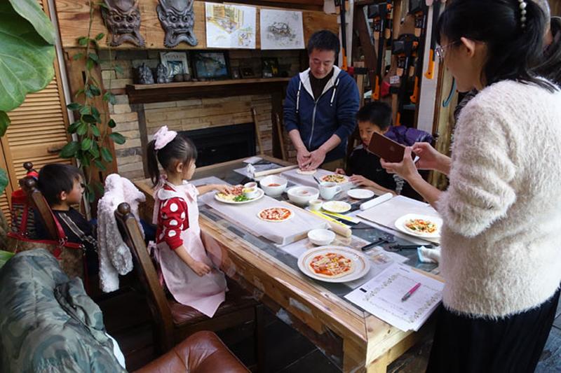 石窯ピザ焼き&薪割り体験会3