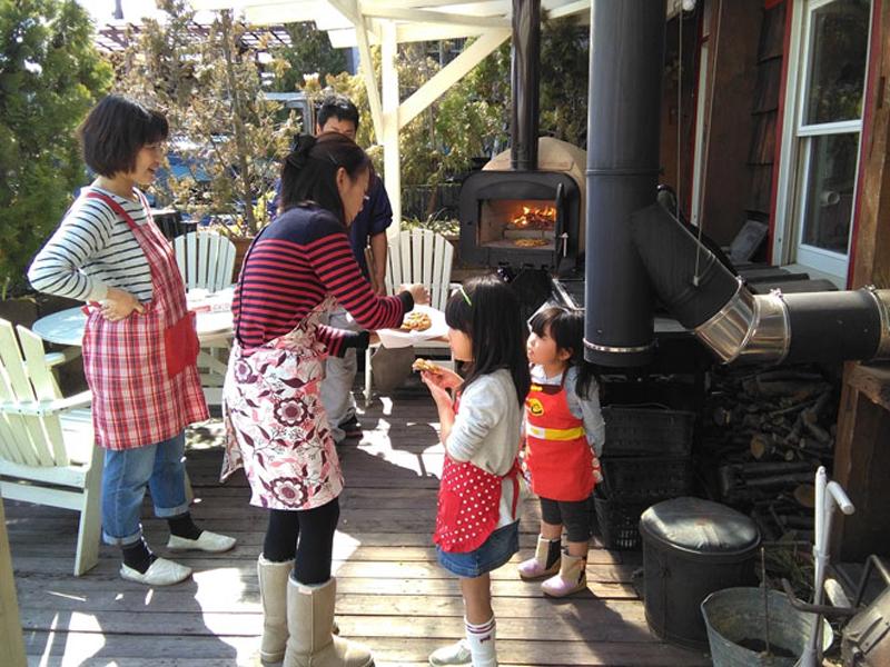 薪割り・・・ピザ焼き・・・薪ストーブ体験会5
